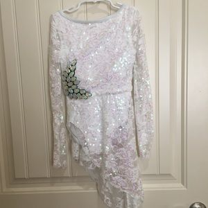 White sequined dance costume